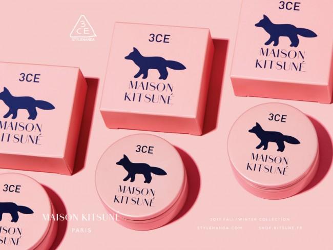 「3CE × MAISON KITSUNE」コラボレーションコスメ明日(15日)発売!