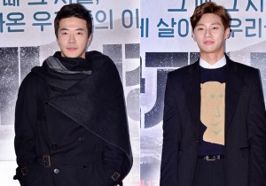 俳優クォン・サンウ&パク・ソジュン、個性的ファッションで堂々と登場!映画『国際市場』VIP試写会