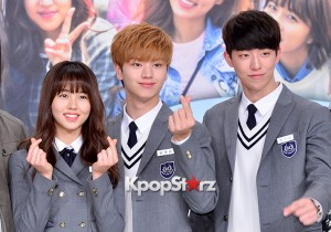 BTOBソンジェ、学生服でハートポーズ!KBS 2TV『Who are you-学校2015』制作発表会