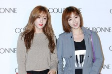 T-ara's Eunjung and Hyomin Attend COURONNE's Flagship Store Opening