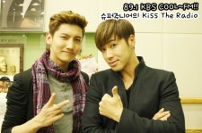東方神起、FM『SUPER JUNIORのKiss the Radio』出演写真