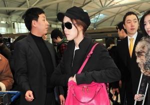 T-ARA ヒョミンの空港ファッション 仁川空港