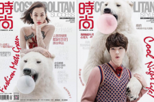 水原希子&ルハン、中国版『COSMOPOLITAN』表紙をペアで飾る?!
