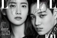 """少女時代 ユナ&EXO カイ、雑誌『ELLE』表紙を飾る""""抜群のケミに視線集中"""""""