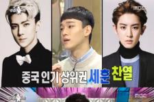 EXO チェンが選ぶ中国&韓国でのEXO人気メンバーTOP3とは?