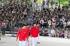 """""""兵役中""""東方神起ユンホ、楊州市で開催された音楽会に参加"""