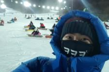 2PMテギョン、夜間スキーを楽しむ姿公開!「眉毛が凍りました」