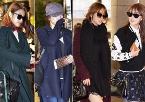 KARAのスタイリッシュ空港ファッション、ライブ開催で日本へ出国