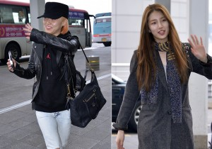 Miss Aスジとミンの空港ファッション、ミスコン参加のため香港へ出発