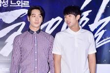 2PM チャンソン&2AMスロン 姿勢正しく揃って笑顔!映画『ハイヒール』VIP試写会出席