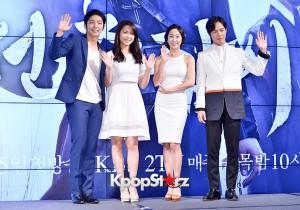 ドラマ『朝鮮ガンマン』制作発表会、イ・ジュンギ、ナム・サンミ、チョン・ヘビン、ハン・ジュワンが笑顔でポーズ!