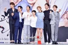 チョ・インソン、コン・ヒョジン、ソン・ドンイル、イ・グァンス、EXOのディオら、ドラマ『大丈夫、愛だ』制作発表会に登場